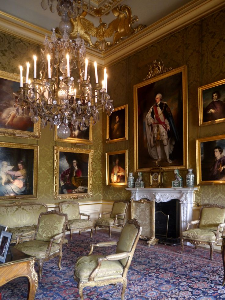 The Green Drawing Room Blenheim Palace Woodstock Oxfordshire England