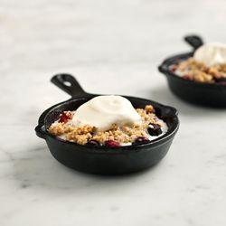 Mixed berry oat crisp. Vegan  gluten free.