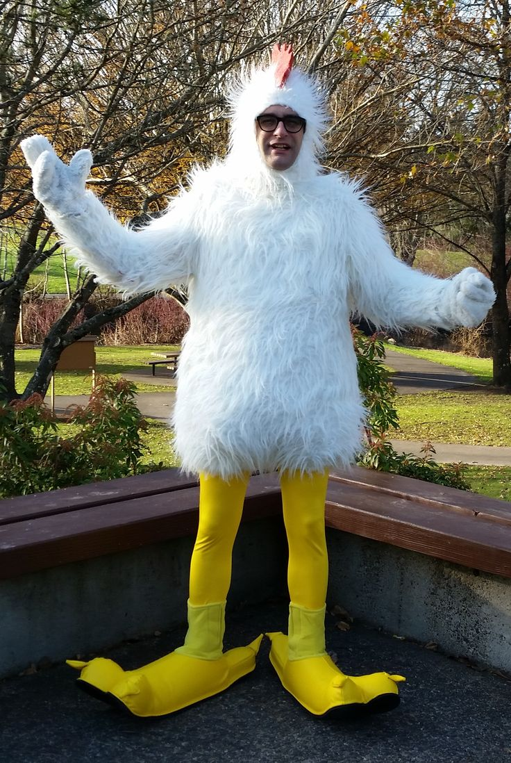 PDX Chickenman. It must feel awfully ridiculous to wear ...