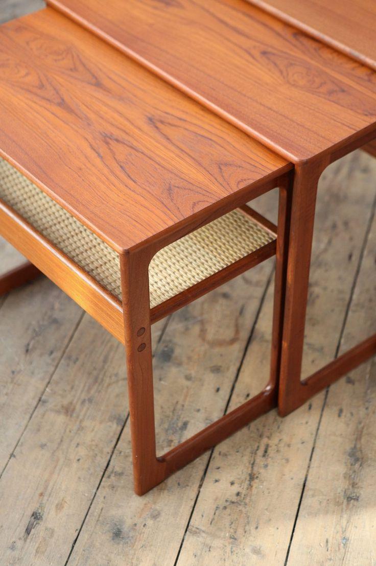 Johannes Andersen & Illum Wikkelsø Nesting Tables – Forest London
