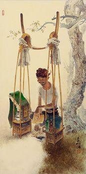 Lee Man Fong - Satay Vendor (sold for $ 237,168)