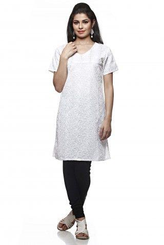 A white coloured kurta