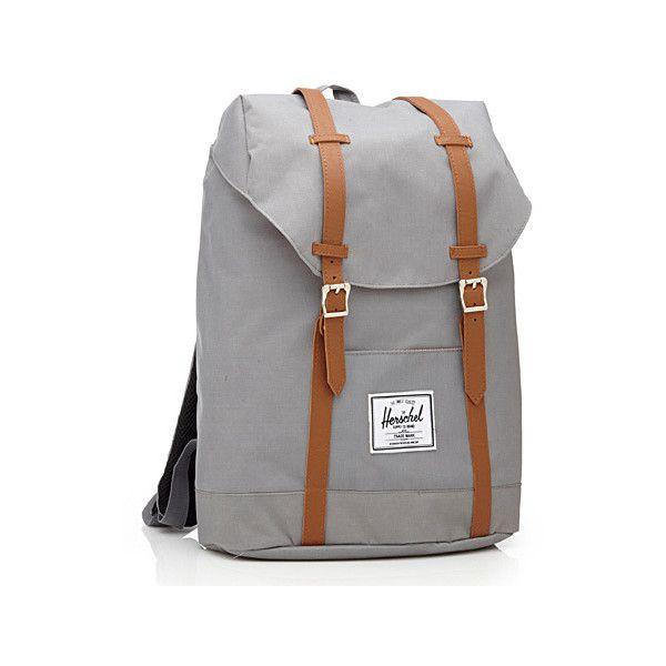 Herschel Retreat Herschel backpack ($60) ❤ liked on Polyvore featuring bags, backpacks, laptop backpacks, padded backpack, canvas bag, herschel rucksack und herschel