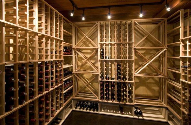 des supports muraux de rangement de bouteilles