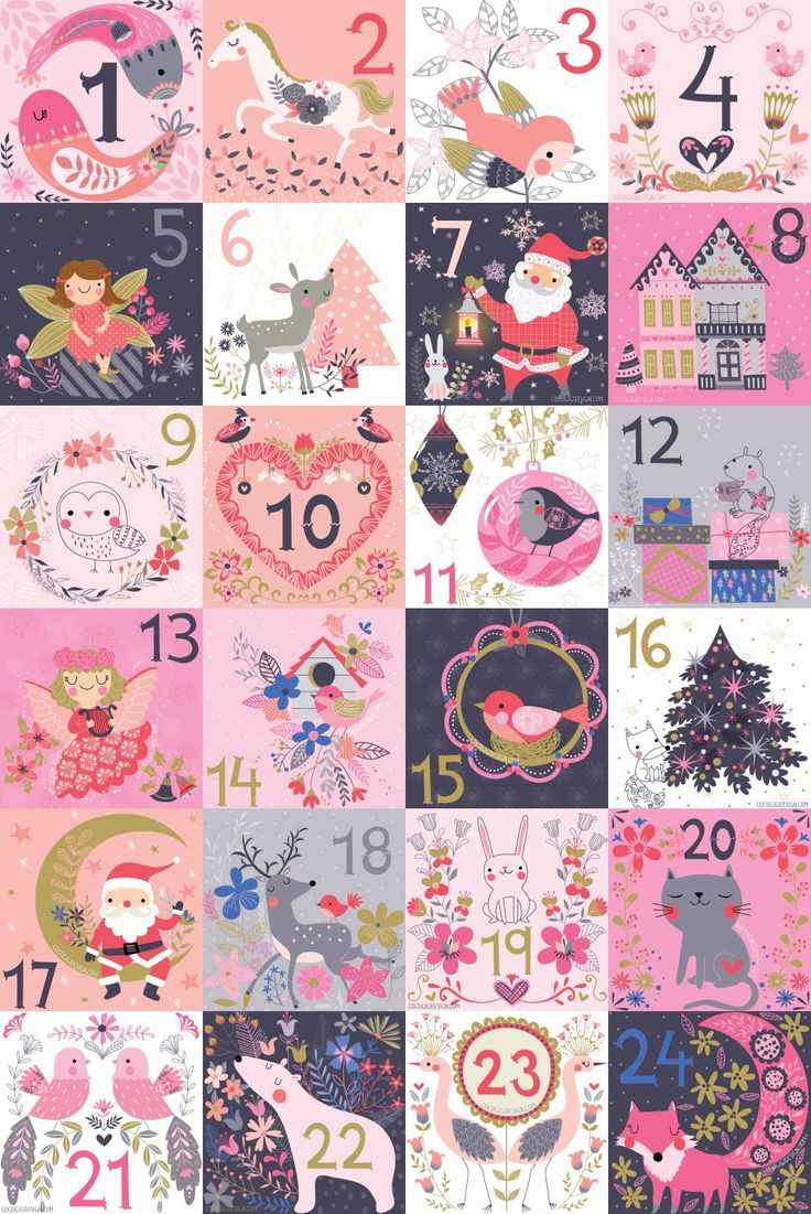 Complete Christmas advent © Gina Maldonado 2015 cocogigidesign.com #christmas #advent #folkart