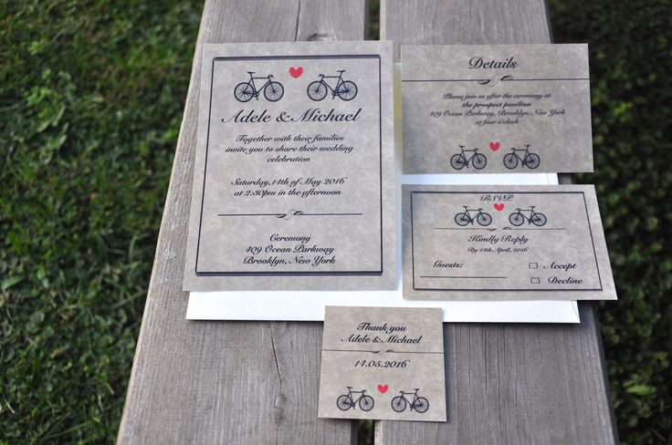 Wedding Invitation / Bicycle Invitation / Romantic Invitation by InspirationStories on Etsy https://www.etsy.com/listing/491638503/wedding-invitation-bicycle-invitation