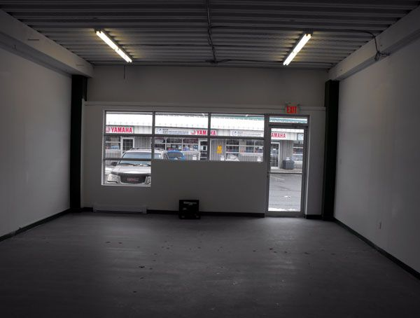 The view looking forward from where the service counters will be. They will extend across both units.
