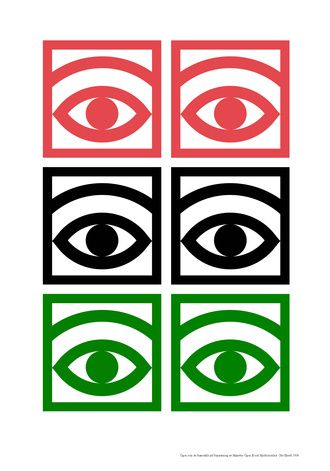 Olle Eksell _ Mazetti Cacao Eye design, a pictogram for the chocolate and confectionery manufacturer.