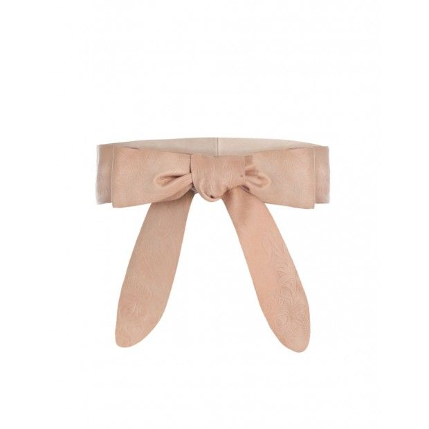 Emboss Soft Wrap Belt Natural Tan.  Emboss Soft Wrap Belt, from our Summer Swim 17 collection, in Natural Tan leather with floral embossing.