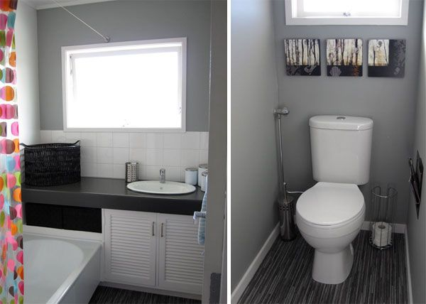Grey Bathroom Maybe Just A Shade Or So Lighter Great Shower Curtain Choice