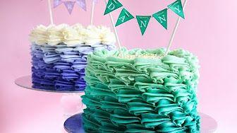 CAKE TREND ~ Ombre Fondant Ruffle Tutorial - Cake Style - YouTube