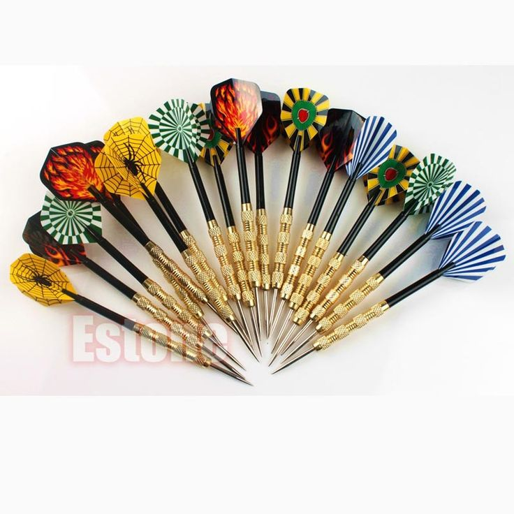18 pcs (6 sets) Professional Steel Tip Darts With Nice Flights