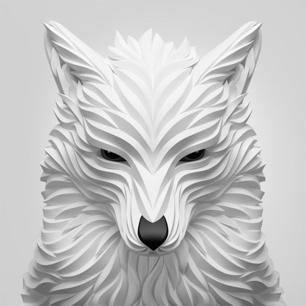 Wonderful 3D Vector Portraits Show The Alluring, Elegant Nature Of Animals - DesignTAXI.com