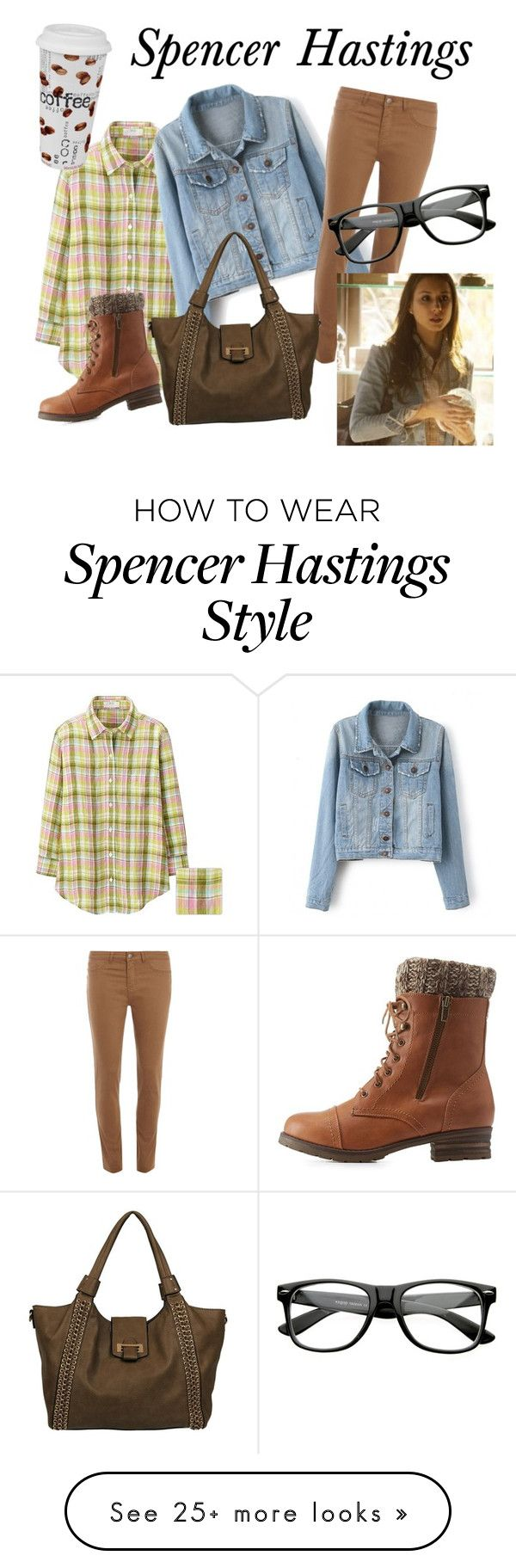 """Spencer Hastings #1"" by clare67 on Polyvore featuring Uniqlo, Dorothy Perkins, Black Rivet, Charlotte Russe, Könitz, GetTheLook, PrettyLittleLiars and spencerhastings"