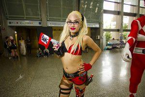 Asian Harley Quinn! #animenorth #atomiclollipop #comicon #cosplay