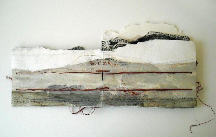 Monique Belitz The Border Crossed Me - Desert Landscape Backside: acrylic paint, crayons, raffia, 2010