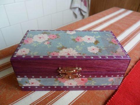 Virágos, kis dobozka, Ékszer, óra, Otthon, lakberendezés, Dekoráció, Ékszertartó, Meska