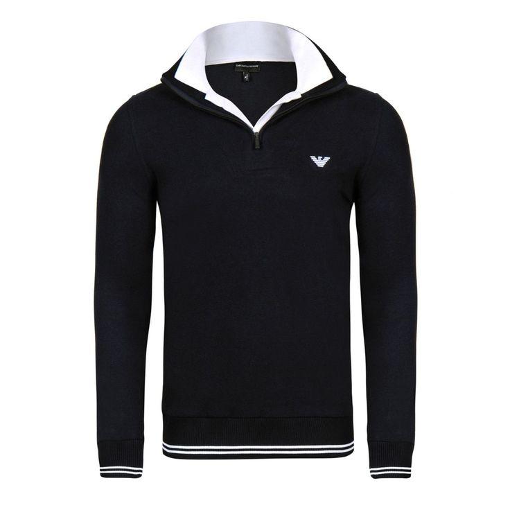 Armani Men's Half Zip Sweater