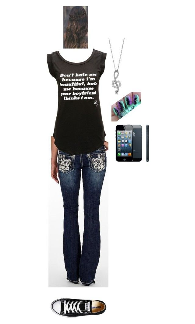 """""""Just Got in a big Argument with Jacob"""" by tyviereck ❤ liked on Polyvore featuring Miss Me, Betsey Johnson, Converse and BERRICLE"""