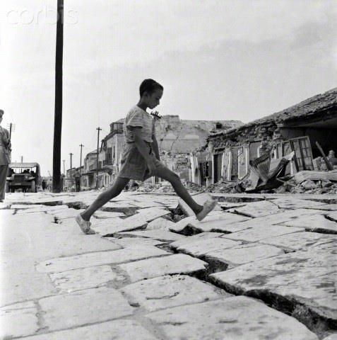 Earthquake in Kefalonia, August 1953