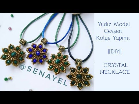 CEVŞEN KOLYE YAPIMI || YILDIZ MODEL || #DIY || STARS NECKLACE – YouTube