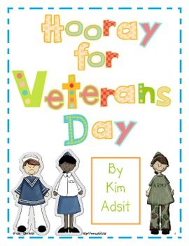 Hooray for Heroes! This super cute packet will teach your little heroes all about Veterans Day while teaching many math and literacy standards. The...@Emily Schoenfeld anthony