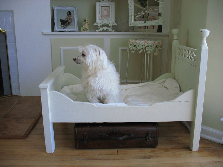 Antique Victorian Toddlers Bed/ Dog Bed/ Doll Bed. $500.00, via Etsy.