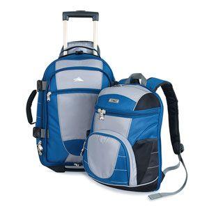 Pour les voyageurs qui cherchent la polyvalence : Valise High Sierra qui se transforme en sac à dos et avec sac de jour détachable