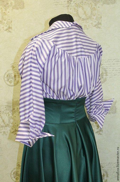 """Блузки ручной работы. Ярмарка Мастеров - ручная работа. Купить Блузка в стиле ретро """"Мода 50-х"""". Handmade."""