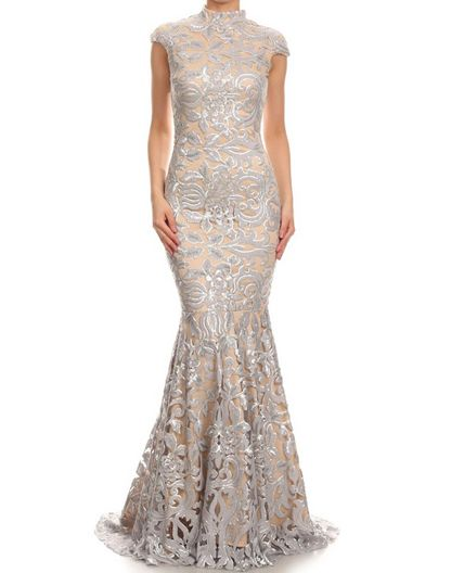 Shop Silver Lace Evening Dress Miami, Shop Gold Mermaid Dress Miami, Mother of…