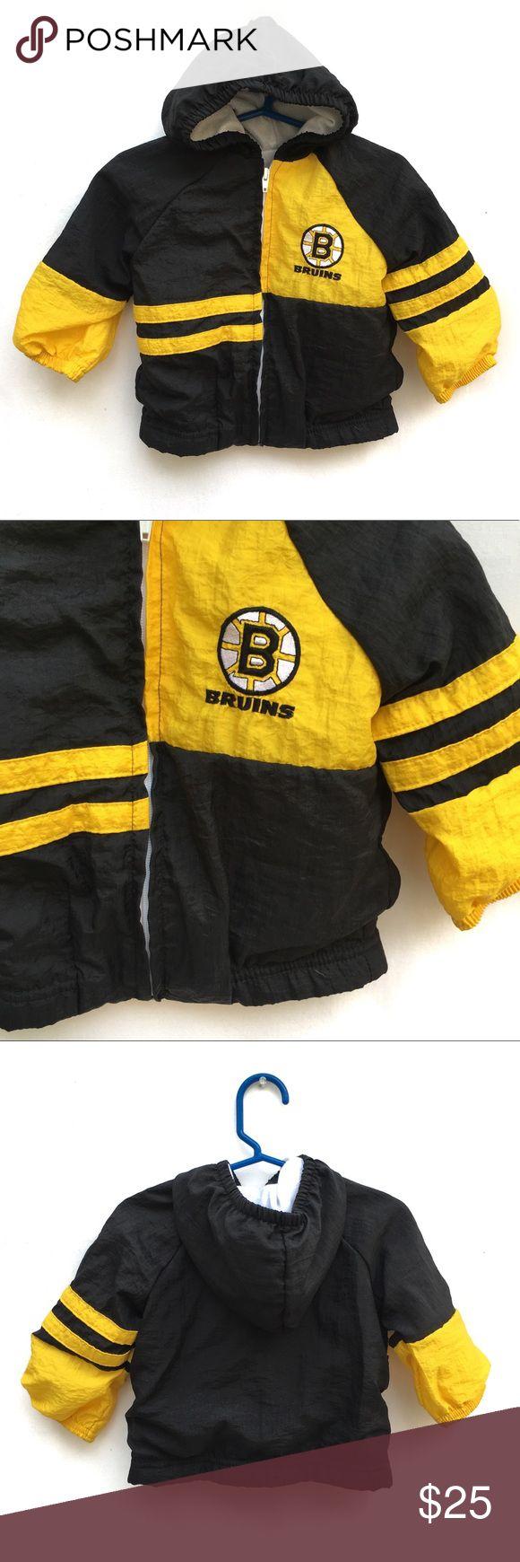 Vintage Boston Bruins Nylon Hooded Jacket Size 2T Vintage Boston Bruins Park Ben…