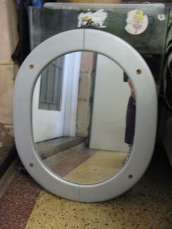 $20 OVAL SILVER MIRROR Thick Timber Frame 49x61cm Text 0411691171 or email info@bitspencer.com