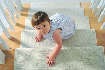 1/2 carpet on stairs