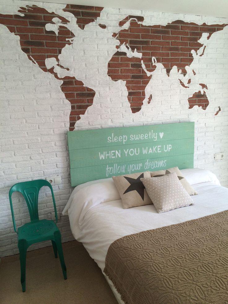 15 pines de mapas del mundo que no te puedes perder for Decoracion para pared blanca