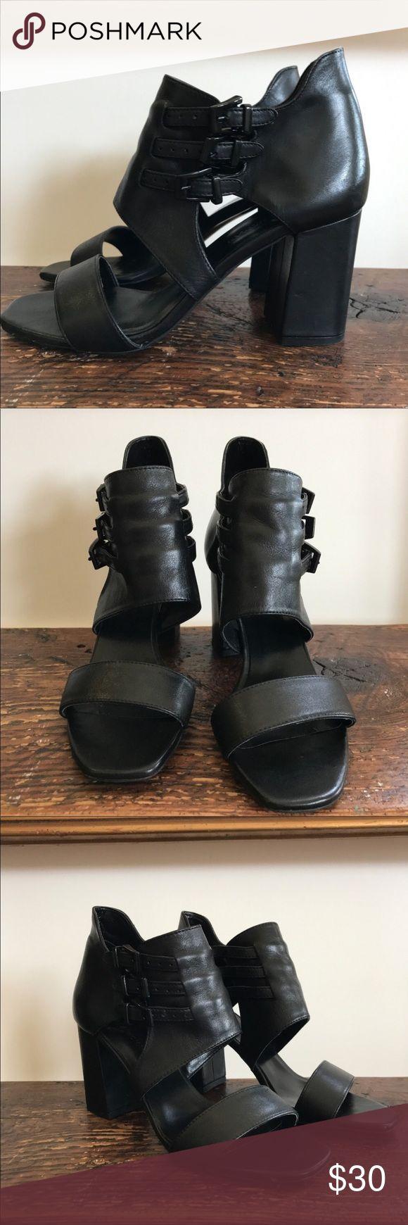 Black Zara Sandals By Zara, purchased at Zara Barcelona Store  Size EU 38, US 8, true to size  Worn once, like new Zara Shoes Sandals