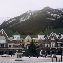 Shopping near the Fairmont Banff Springs Resort, Canada