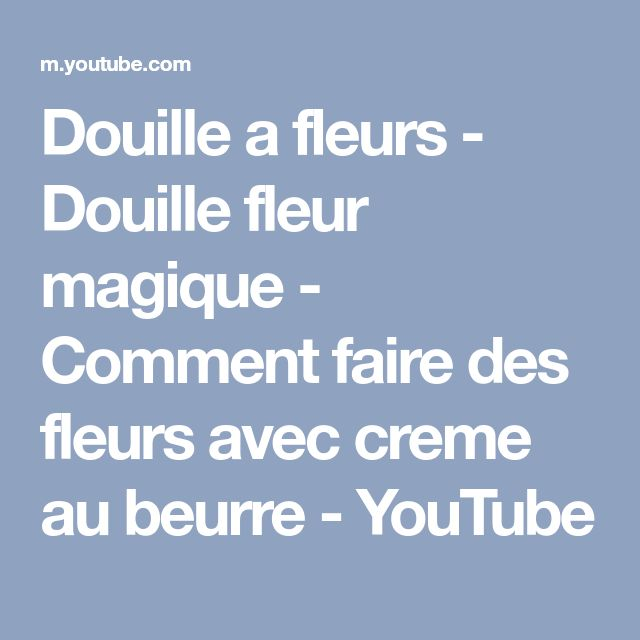 Douille a fleurs - Douille fleur magique - Comment faire des fleurs avec creme au beurre - YouTube