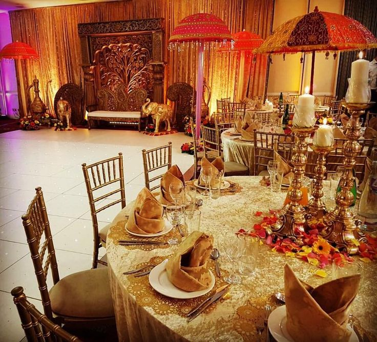 Our Mughal Saltanat themed pre-wedding event we provided full decor for at Waltham Abbey Marriott Hotel recently.