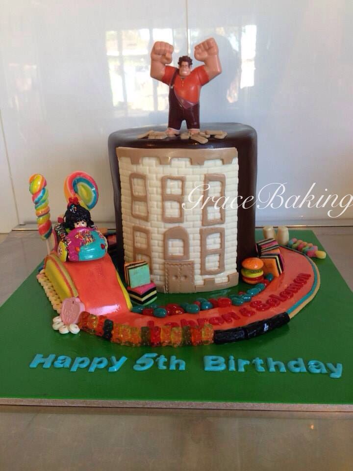 Wreck it Ralph and Sugar Rush Racer cake by Grace Baking