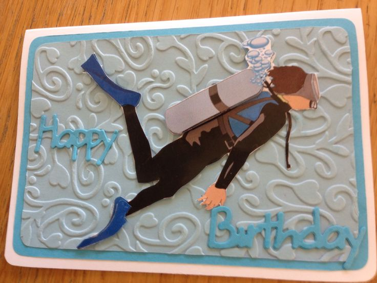 ' diving' birthday card
