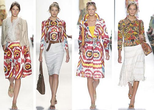 """2005 Oscar de la Renta Spring Collection, """"Uzbek"""" dresses, skirts and jackets"""