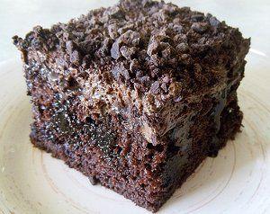 Chocolate Wasted Poke Cake