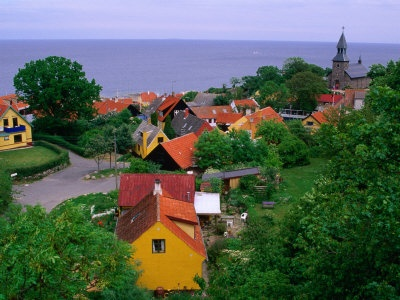 The old town Svaneke located at the island of Bornholm, Denmark.