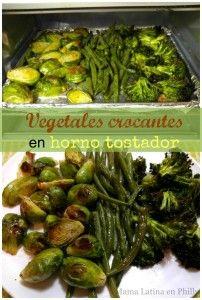 Vegetales crocantes en horno tostador