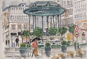 Urban Sketchers Spain. El mundo dibujo a dibujo.: Siempre nos quedará Betanzos (I)
