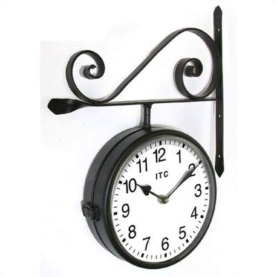 doublesided metal railway station clock bed bath u0026 beyond