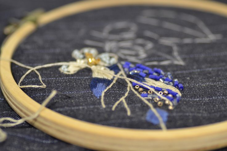 hand embroidery in atelier