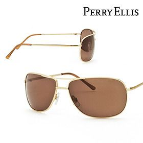 Perry Ellis Men's Aviator-Style Sunglasses - Gold