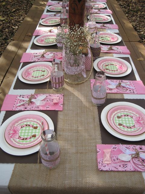 "Photo 1 of 47: Pink cowgirl / Birthday ""Ashtyn's Outdoor Cowgirl Party"" 