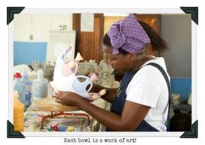 Zizamele artist making friendship bowls. #giftswithapurpose #giftswithacause #uniquegifts #africanhandicraft #homedecor #handmadeproducts